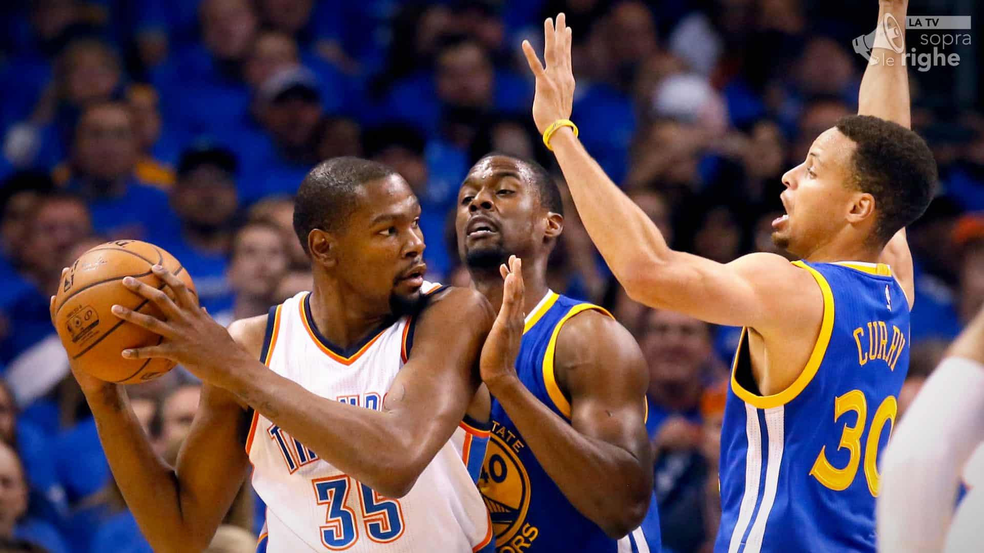 NBA PLAYOFF, Warriors-Thunder, si torna in Oklahoma: 1-1